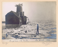 1894 Langstone Mill in ice